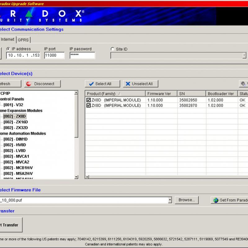 Paradox Firmware Software Infield Didarc